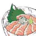 「日本人なら見ておきたいニッポンの絶景」eat&buyイラスト(Discover Japan TRAVEL)