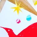 「とりのカードにコラージュしてみよう」 2016年12月にわのひキャンプ@さくら市