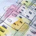 ブックカバー「ある街の風景」「ミステリー小説のような」「カエル」