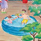 フリーペーパーhug(すまいポート21)表紙用イラスト「夏」